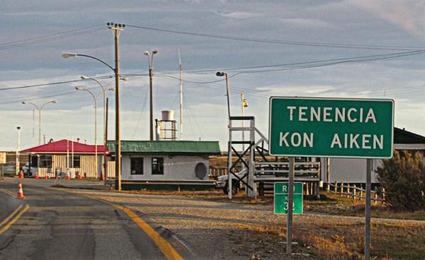Retén de Kon Aikén, a 32 km de Punta Arenas.