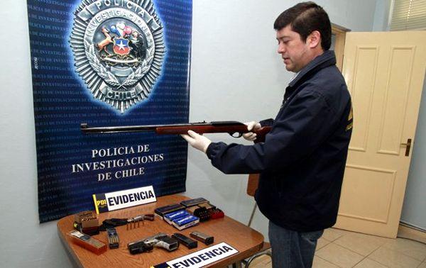 El mini-arsenal fue confiscado y destruido por autoridades chilenas.