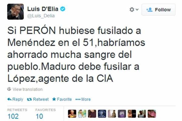 Delia fusilamiento Lopez