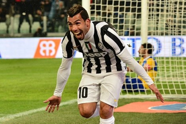 Tevez gol Juventus 14