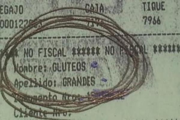 ticket gluteos