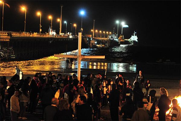 Madryn: Via Crucis submarino
