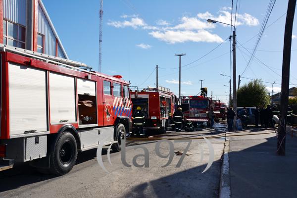 Varias dotaciones de bomberos combatieron el fuego
