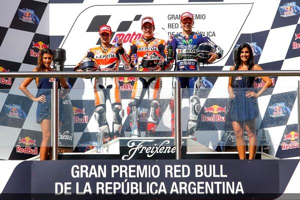 marquez podio Arg14